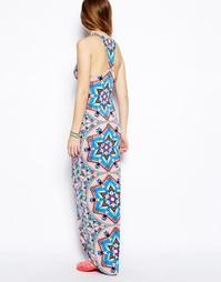 Платье с принтом воздушный змей и спинкой-борцовкой Mara Hoffman
