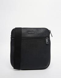 Сумка для авиаперелетов из кожи Saffiano от Armani Jeans - Черный