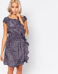 Цельнокройное платье с рюшами Jasmine - Серый