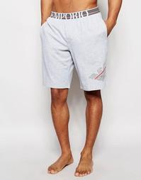 Классические шорты для дома с логотипом Emporio Armani - Серый