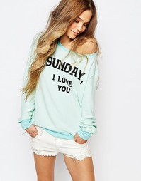 Джемпер Wildfox Sunday I love You - Salt water taffy