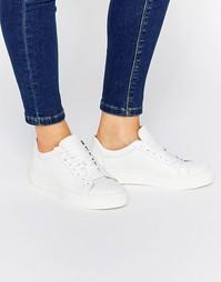 Белые кожаные кроссовки Selected Femme Donna - Белый