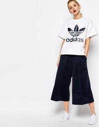 Укороченная юбка-брюки с широкими штанинами adidas Originals by HYKE