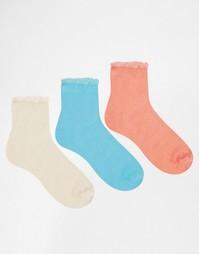 Комплект из 3 пар носков пастельных оттенков Ruby Rocks - Мульти