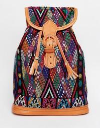 Рюкзак с гобеленовым принтом ручной работы Hiptipico