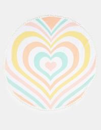 Круглое полотенце с радужным принтом в форме сердца Lolli - Ацтек