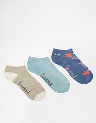 3 пары темно-синих спортивных носков с цветочным рисунком Lovestruck