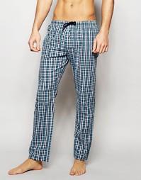 Узкие тканые штаны для дома Esprit - Зеленый