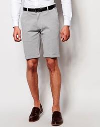 Строгие короткие шорты узкого кроя Selected Homme - Серый