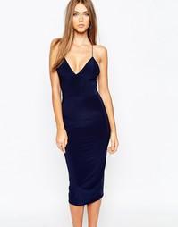 Платье миди на бретельках Missguided - Темно-синий