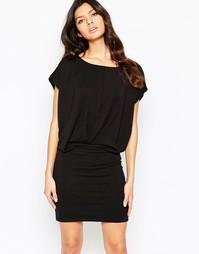 Платье с короткими рукавами Selected Trang - Черный