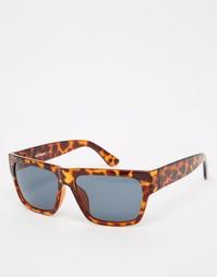 Квадратные солнцезащитные очки в черепаховой оправе AJ Morgan
