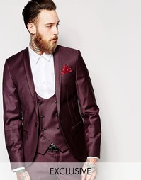 Cупероблегающий эластичный пиджак с лацканами наклонной формы Noose &