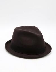 Шляпа с круглой плоской тульей Catarzi - Коричневый