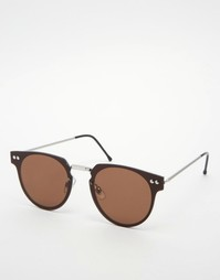 Коричневые круглые солнцезащитные очки Spitfire Trip Hop - Коричневый