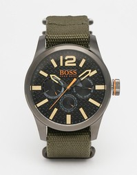 Часы BOSS Orange с ремешком Paris Nato - Зеленый