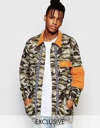 Куртка с камуфляжным принтом The New County - Камуфляжный