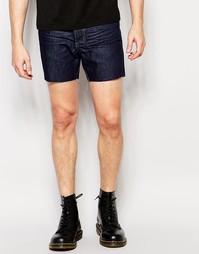 Короткие джинсовые шорты Religion - Темный индиго
