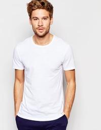 Белая облегающая футболка с круглым вырезом Paul Smith - Белый