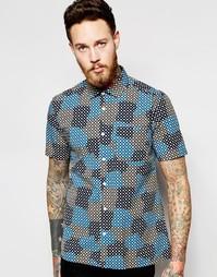 Рубашка с короткими рукавами и принтом YMC - Синий
