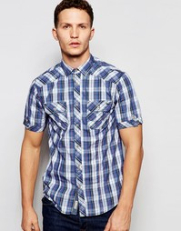 Клетчатая рубашка с короткими рукавами Tokyo Laundry - Синий