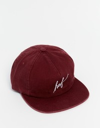 Бейсболка с надписью HUF - Красный