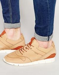 Кожаные кроссовки Jack & Jones Robson - Бежевый