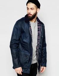 Вощеная куртка с вельветовым воротником Brixtol - Темно-синий