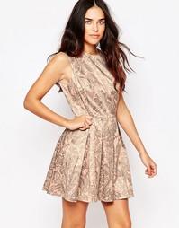 Короткое приталенное платье с принтом Hedonia Lottie - Принт