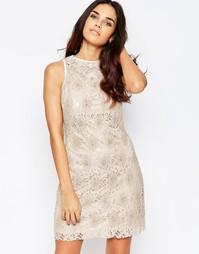 Кружевное цельнокройное платье без рукавов A Star Is Born - Мокка