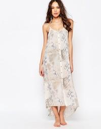 Пляжное платье макси с принтом Melissa Odabash