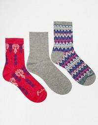 3 пары носков Ruby Rocks - Розовый
