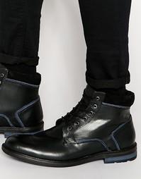 Черные кожаные ботинки на шнуровке Dune - Черный