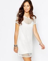 Цельнокройное сетчатое платье с нижним чехлом Goldie Outsider
