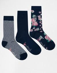 3 пары носков с цветочным принтом Lovestruck - Blue vanilla