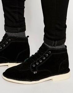 Легендарные замшевые ботинки Kickers - Черный