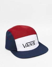 Синяя кепка из 5 панелей Vans Davis VUM2J3C - Синий