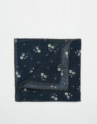 Шерстяной платок для нагрудного кармана Noose & Monkey - Синий