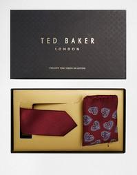 Подарочный комплект с шелковым галстуком и платком-паше Ted Baker Youl