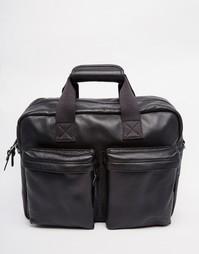 Кожаная сумка для ноутбука Eastpak Tomec - Черный