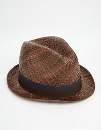 Cоломенная шляпа Paul Smith Bovens - Коричневый