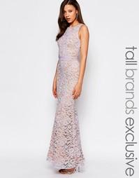 Кружевное платье макси с контрастными вставками Jarlo Tall