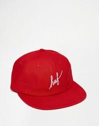 Регулируемая 6‑панельная кепка с надписью HUF - Красный