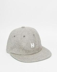 Шерстяная кепка без регулируемого ремешка сзади HUF - Серый