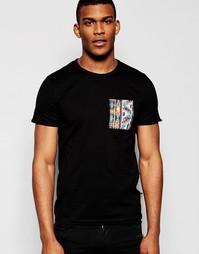 Классическая футболка с бисерным принтом Jaded London - Черный