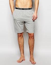 Шорты узкого кроя с принтом логотипа Calvin Klein - Серый