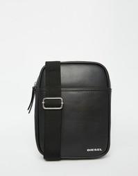 Кожаная авиа-сумка Diesel Fuzzy - Черный