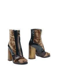 Коричневые Полусапоги и высокие ботинки Dolce &; Gabbana