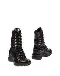 Черные Полусапоги и высокие ботинки Fornarina