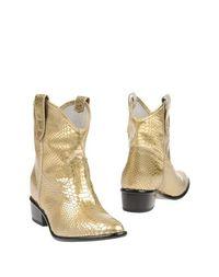Золотистые Полусапоги и высокие ботинки Baldinini Trend